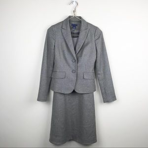 Vtg J.Crew Wool Suit Dress Career Wear